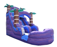 16' Purple Hurricane wet / dry slide - 25' x 15'