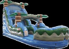16'Blue Hurricane wet dry slide - 25' x 15'
