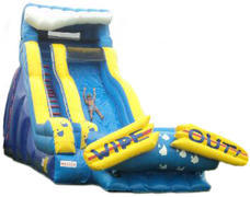 21' Wipeout wet/dry Slide - 38' x 17'