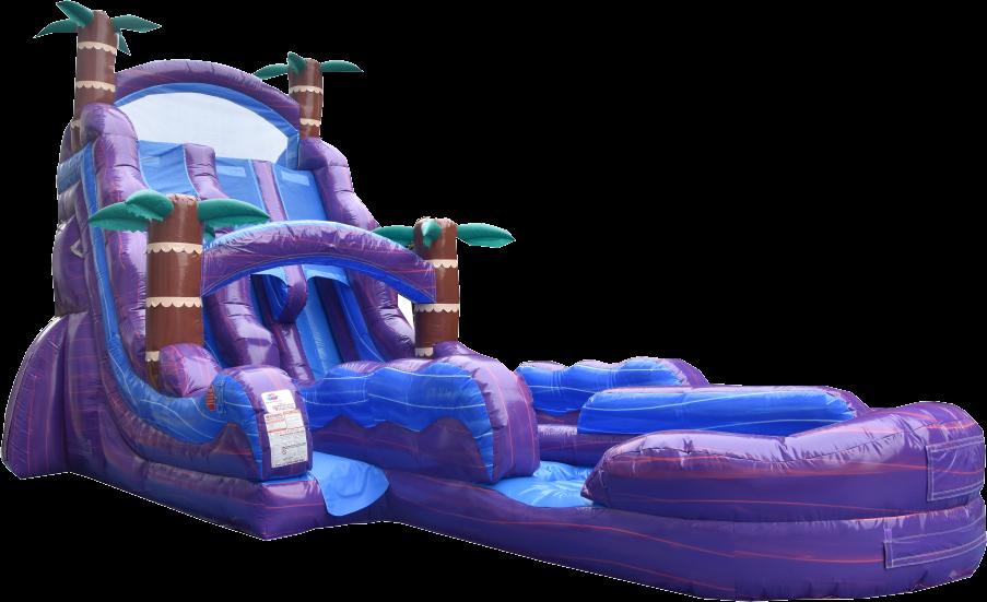 24' DL Hurricane wet/dry Slide - 55' x 20'