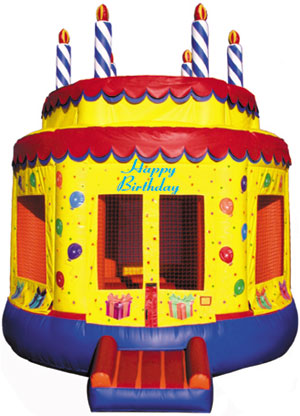 Birthday Cake Bounce House - 15' diameter