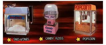 Snow Cones, Cotton Candy Popcorn