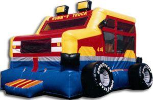 Monster Truck Bounce House - 15' x 15'