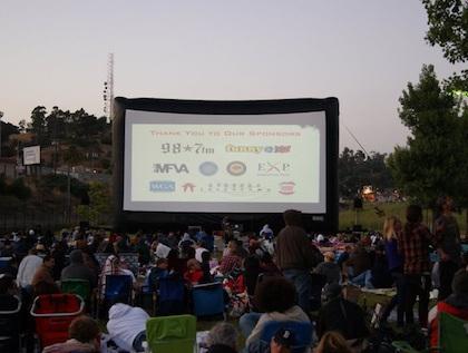 Outdoor Video - AV setup Included - YOU provide the movie
